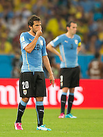 Alvaro Gonzalez of Uruguay looks dejected