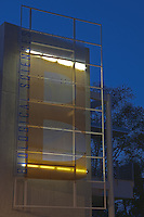 The cool new sign for Orange Coast College's new biology building, seen just after sunset.