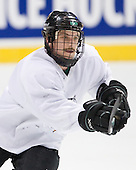 Robbie Bina (North Dakota 28) - The 2008 Frozen Four participants practiced on Wednesday, April 9, 2008, at the Pepsi Center in Denver, Colorado.