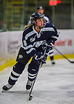 2 February 2013: University of New Hampshire Wildcat forward Arielle O'Neill, a Junior from St. Catharines, Ontario, in action against the University of Vermont Catamounts at Gutterson Fieldhouse in Burlington, Vermont. The Lady Wildcats defeated the Lady Catamounts 4-2 in Hockey East play. Mandatory Credit: Ed Wolfstein Photo