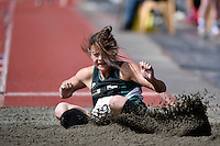 Pavinee Watson in action during the Athletics - NZ Track and Field Championships at Newtown Park, Newtown, New Zealand on Friday 6 March 2015. <br /> Photo by Masanori Udagawa. <br /> www.photowellington.photoshelter.com.