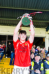 East Kerry Captain David Spillane lift the cup after winning the County Minor Championship final in Fitzgerald Stadium on Sunday