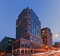 Superior Ink Condominiums, Robert A. M. Stern, 2009. West Street between Bethune and West 12th Streets, Greenwich Village, Manhattan, New York City, New York, USA