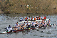 13 IM1.8+ Thames Tradesmen.14 IM1.8+ Lea RC ..Reading University Boat Club Head of the River 2012. Eights only. 4.6Km downstream on the Thames form Dreadnaught Reach and Pipers Island, Reading. Saturday 25 February 2012.