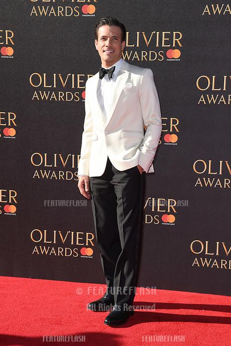 Danny Mac at The Olivier Awards 2017 at the Royal Albert Hall, London, UK. <br /> 09 April  2017<br /> Picture: Steve Vas/Featureflash/SilverHub 0208 004 5359 sales@silverhubmedia.com