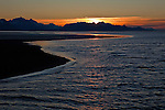 The morning sun rises over the Copper River Delta in Mid-September on Alaska's North Gulf Coast.