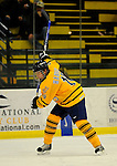 29 December 2007: Quinnipiac University Bobcats' defenseman Zach Hansen, a Freshman from White Bear Lake, MN, in action against the Western Michigan University Broncos at Gutterson Fieldhouse in Burlington, Vermont. The Bobcats defeated the Broncos 2-1 in the first game of the Sheraton/TD Banknorth Catamount Cup Tournament...Mandatory Photo Credit: Ed Wolfstein Photo