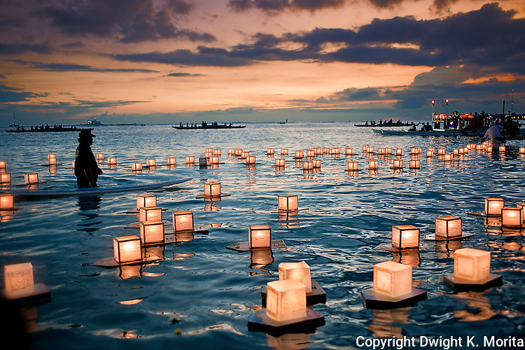Floating Lanterns memorialize those that have passed