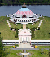 The lotus temple where people go to pray located in Yogaville in Buckingham County, Va. Photo/Andrew Shurtleff