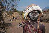Mursi tribe teenage girl, Ethiopia