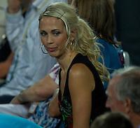 BEC HEWITT watching LLEYTON HEWITT (ESP) against FERNANDO VERDASCO (ESP) in the group stage of the Hopman Cup. Spain beat Australia 6-3 3-6 7-5..01/01/2012, 1st January 2012, 01.01.2012..The HOPMAN CUP, Burswood Dome, Perth, Western Australia, Australia.@AMN IMAGES, Frey, Advantage Media Network, 30, Cleveland Street, London, W1T 4JD .Tel - +44 208 947 0100..email - mfrey@advantagemedianet.com..www.amnimages.photoshelter.com.