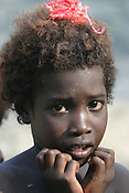 A child on Puil Island, Carteret Atoll, Papua New Guinea, on Sunday, Dec. 10, 2006.