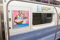 Advertising on the subway in New York on Sunday, January 3, 2016 promotes the use of HIV testing, prophylactic drugs and condoms to combat the spread of AIDS and sexually transmitted infections. . (© Richard B. Levine)