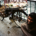 A fruit seller on the streets of Kathmandu, Nepal. (Photo/Scott Dalton)