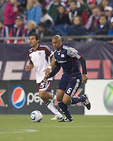 New England Revolution midfielder Ousmane Dabo (6) at midfield. In a Major League Soccer (MLS) match, the New England Revolution tied the Colorado Rapids, 0-0, at Gillette Stadium on May 7, 2011.