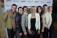 New York City, NY. October 20, 2014. Brandon Collwes, Jake Szczypek, Brandin Steffensen, Liz Gerring, Claire Westby, Tony Neidenbach, Elizabeth Dement. The 30th anniversary of The Bessies, the New York Dance and Performance Awards, are held at the world famous Apollo Theatre in Harlem. Photo by Marco Aurelio/VIEWpress