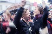 Warsaw 03.10.2016 Poland<br /> Thousands of women all over the country refused to work in protest against changes in abortion law and demonstrate in many polish cities.<br /> Photo: Adam Lach / Napo Images<br /> <br /> Tysiace polek zrezygnowaly z pojscia do pracy w ramach Ogolnopolskiego Strajku Kobiet w zwiazku z projektem ustawy o zaostrzeniu prawa aborcyjnego. W wielu polskich miastach odbyly sie liczne demonstracje.<br /> Fot: Adam Lach / Napo Images