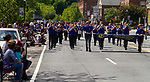 WINSTED, CT - 20 MAY 2017 - 052017JW04.jpg -- Gilbert Junior Jackets marching band walks down Main Street during the 81st Annual Pet Parade Saturday afternoon.   Jonathan Wilcox Republican-American