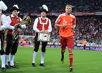 FUSSBALL   1. BUNDESLIGA  SAISON 2012/2013   5. Spieltag FC Bayern Muenchen - VFL Wolfsburg    25.09.2012 Holger Badstuber (FC Bayern Muenchen)  vor der Blaskapelle in der Allianz Arena