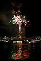 Fireworks at Odaiba Rainbow Bridge