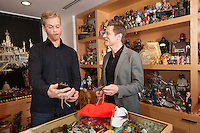Mark Parker, CEO of Nike, photographed in his office at Nike headquarters in Beaverton, Oregon with Runner's World Editor in Chief David Willey