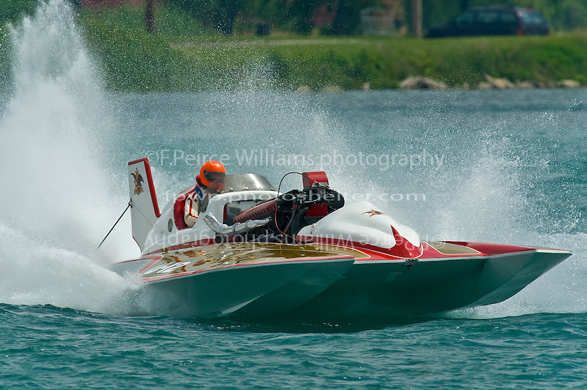 "13 July 2008  APBA Gold Cup.U-12 ""Miss Budweiser"" Unlimited Hydroplane (built as the Tempus).©2008 F.Peirce Williams."
