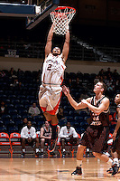SAN ANTONIO, TX - NOVEMBER 22, 2008: The East Central University Tigers vs. The University of Texas at San Antonio Roadrunners Men's Basketball at the UTSA Convocation Center. (Photo by Jeff Huehn)