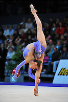 Evgeniya Kanaeva of Russia performs in Event Finals at 2010 World Cup at Portimao, Portugal on March 14, 2010.  (Photo by Tom Theobald).