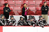 Elsa Bruestle (Union - 24), Claudia Asano Barcomb (Union - Head Coach), Emma Rambo (Union - 22), Courtney Turner (Union - 3), Julie Chu (Union - Assistant Coach), ?, Camille Corbin (Union - 9), ? - The Boston University Terriers defeated the visiting Union College Dutchwomen 6-2 on Saturday, December 13, 2012, at Walter Brown Arena in Boston, Massachusetts.