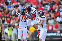 Richmond celebrates after David Jones intercepts the ball. Maryland defeated Richmond 50-21 during home season opener at the Byrd Stadium in College Park, MD on Saturday, September 5, 2015.  Alan P. Santos/DC Sports Box