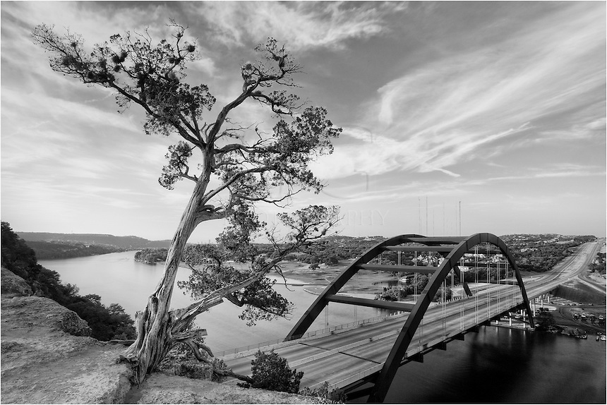 Morning clouds at Pennybacker Bridge in Austin, Texas
