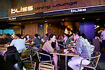 Bliss is among thecChic cafes, restaurants and bars that are becoming the norm in the Itaewon district of of Seoul, South Korea on 25 June 2010..Photographer: Rob Gilhooly