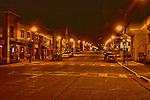 HDR image of Main Street in Menomonee Falls Wisconsin at night