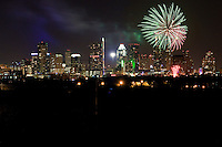 Austin, Texas, USA July 4th Independence Day Fireworks Display