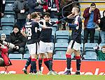 Dundee v St Johnstone&hellip;.31.12.16     Dens Park    SPFL<br />Faissal El Bakhtaoui celebrates his goal<br />Picture by Graeme Hart.<br />Copyright Perthshire Picture Agency<br />Tel: 01738 623350  Mobile: 07990 594431