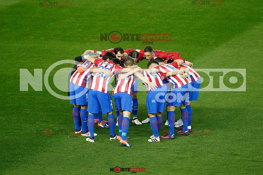 Atletico de Madrid's players during La Liga match. November 19,2016. (ALTERPHOTOS/Acero) /NORTEPHOTO.COM