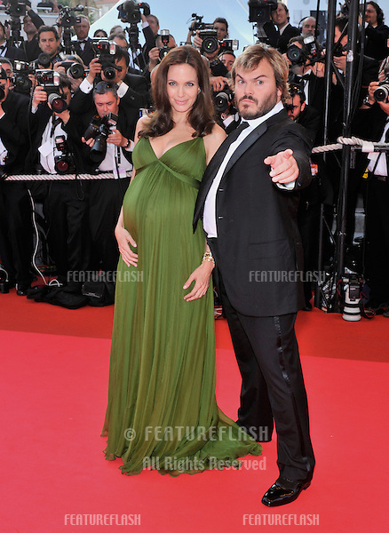 """Angelina Jolie & Jack Black at the gala premiere for their new movie """"Kung Fu Panda"""" at the 61st Annual International Film Festival de Cannes..May 15, 2008  Cannes, France..Picture: Paul Smith / Featureflash"""