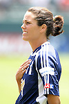 27 June 2004: Julie Foudy. The San Diego Spirit defeated the Carolina Courage 2-1 at the Home Depot Center in Carson, CA in Womens United Soccer Association soccer game featuring guest players from other teams.
