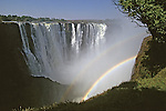 Victoria Falls With Double Rainbow
