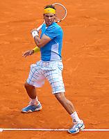 Rafael NADAL (ESP) against Juan Carlos FERRERO (ESP) in the Quarter Finals. Rafael Nadal beat Juan Carlos Ferrero 6-4 6-2...International Tennis - 2010 ATP World Tour - Masters 1000 - Monte-Carlo Rolex Masters - Monte-Carlo Country Club - Alpes-Maritimes - France..© AMN Images, Barry House, 20-22 Worple Road, London, SW19 4DH.Tel -  + 44 20 8947 0100.Fax - + 44 20 8947 0117