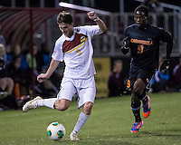 The Winthrop University Eagles lose 2-1 in a Big South contest against the Campbell University Camels.  Mason Lavallet (9), Jhuvon Francis (9)