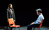 Future Conditional <br /> by Tamsin Oglesby<br /> directed by Matthew Warchus<br /> at The Old Vic Theatre, London, Great Britain, London, Great Britain<br /> 4th September 2015 <br /> <br /> Nikki Patel as Alia<br /> Rob Brydon as Crane<br /> <br /> <br />  <br /> <br /> <br /> Photograph by Elliott Franks <br /> Image licensed to Elliott Franks Photography Services