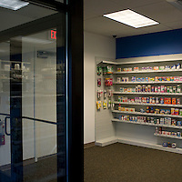 View of products on sale in the pharmacy at the Pitney Bowes headquarters in Stamford, CT, United States, 7 October 2008.