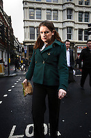 Sarah Powell, a human resources assistant at a firm in the City of London. The UK went into recession in the final quarter of 2008 as the City was hit hard by the global credit crunch.