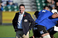 Bath Rugby Head Coach Mike Ford looks on during the pre-match warm-up. Aviva Premiership match, between Bath Rugby and Harlequins on October 31, 2015 at the Recreation Ground in Bath, England. Photo by: Alex Davidson / JMP for Onside Images