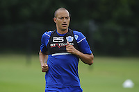 Bobby Zamora with the QPR team in training