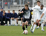 5 November 2006: Wake Forest's Wells Thompson (9) and Duke's Darrius Barnes (13). Duke defeated Wake Forest 1-0 in overtime at the Maryland Soccerplex in Germantown, Maryland in the Atlantic Coast Conference college soccer tournament final.