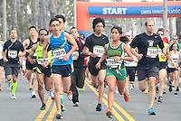 Competitors run along Barnard Way in the Santa Monica Classic 5K on Sunday, May 20, 2012. .The run raised money and awareness for Heal the Bay, an organization that keeps coastal waters safe and clean in Southern California..
