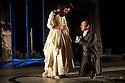 "London, UK. 19/05/2011.  ""School for Scandal"" opens at the Barbican. Cara Horgan as Maria and Aidan McArdle as Joseph Surface. Photo credit should read Jane Hobson"