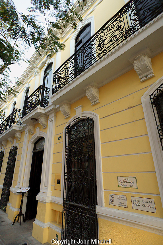 Exterior of the Casa Frederick Catherwood in Merida, Yucatan, Mexico